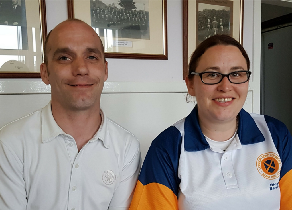 Winners, Open Pairs 2018, Gavin Ramsay and Nicola Barclay